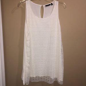 White sleeveless blouse size XL